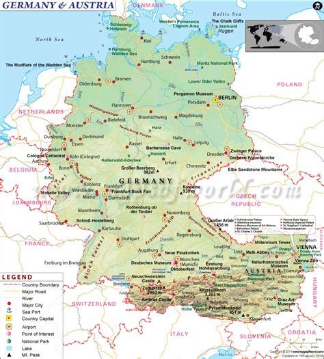 germany europe map map of germany and austria europe austria