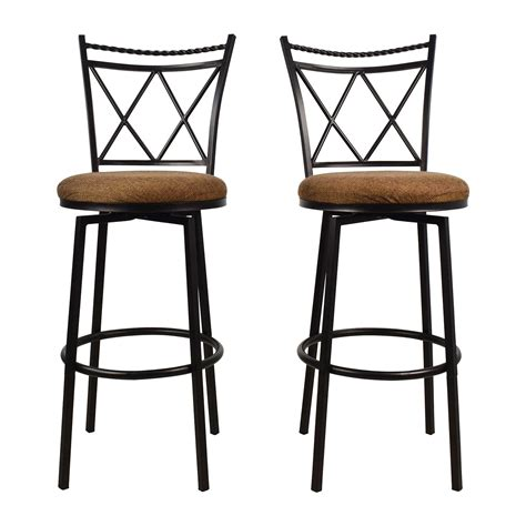 stool upholstery 74 off white quilted bar stool chairs chairs