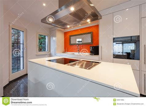 really funky modern kitchen induction hob cooker and modern kitchen cooker hood and hob royalty free stock