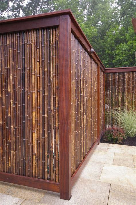 Backyard Bamboo Fencing by 17 Best Ideas About Bamboo Fencing On Tuin
