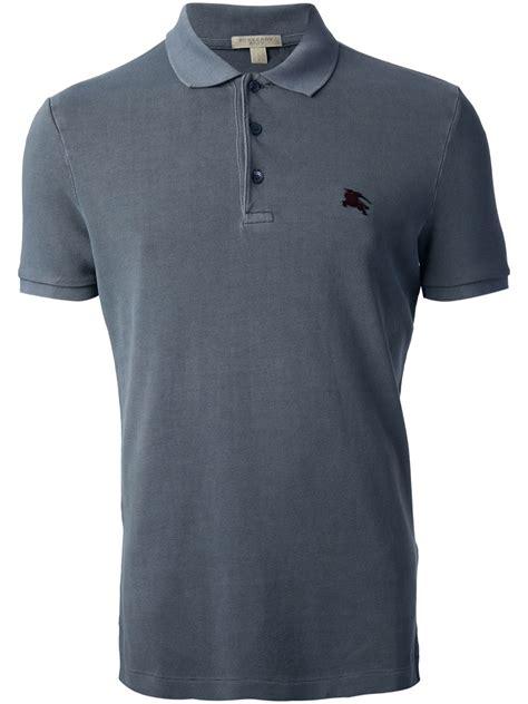 Polo Shirt Burberry Brit Premium Pspb Burberry 5 burberry brit classic polo shirt in gray for grey lyst