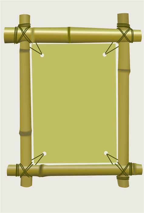design a photo frame set of different of bamboo frame design vector 04 vector