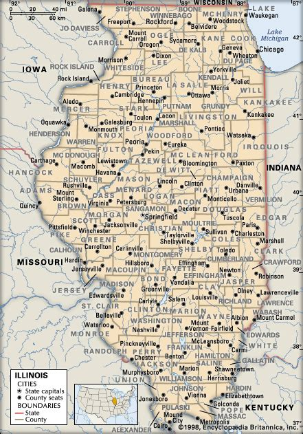 illinois counties map with cities illinois counties encyclopedia children s