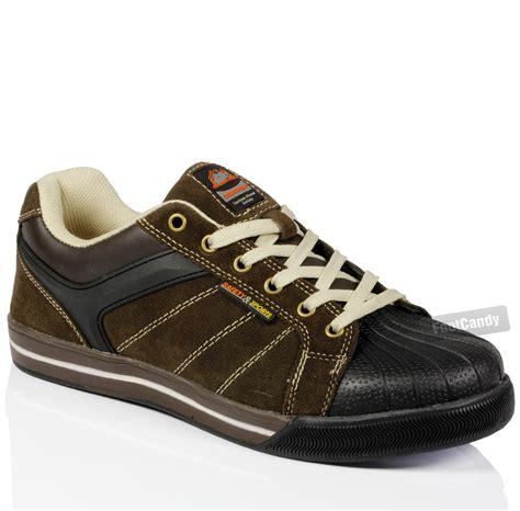 steel toe sport shoes mens steel toe cap leather work safety sport lightweight