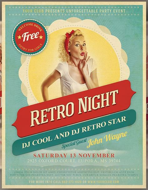 Retro Flyer 60 Best Images About Flyers On