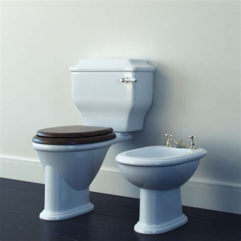 toilet bowl with bidet toilet bowl bidet 3d model