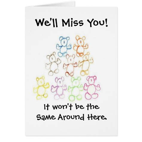 We Miss You Card Template by Quot We Ll Miss You Quot Or Quot Happy Graduation Quot Card Zazzle