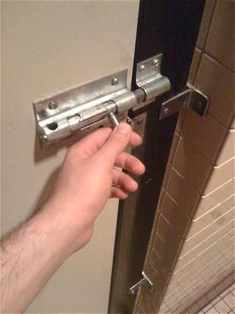 bathroom stall locks
