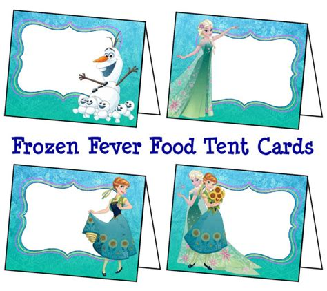 printable frozen table cards disney frozen fever food labels frozen fever by coltellodesign