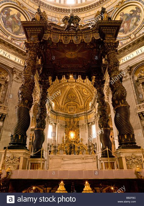 Baldacchino Di Bernini by The Altar With Bernini S Baldacchino In S