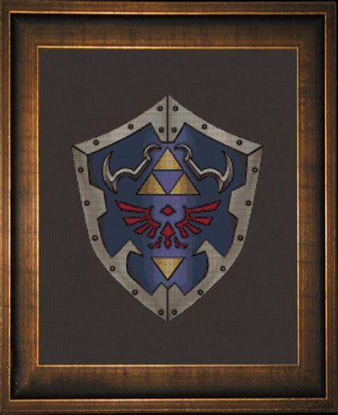 zelda felt pattern legend of zelda shield of hyrule cross stitch pattern