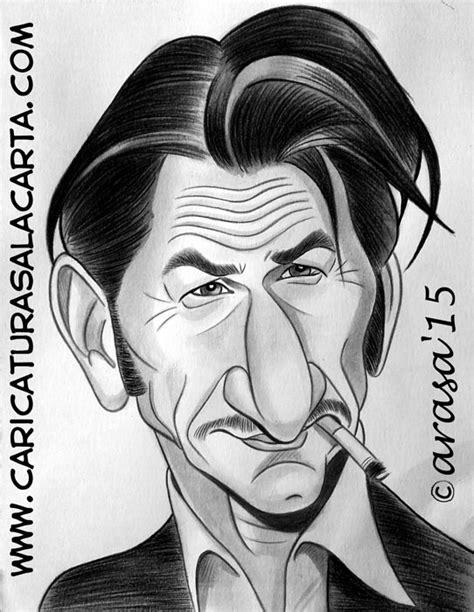 fotos en blanco y negro famosos caricaturas de famosos actores sean penn