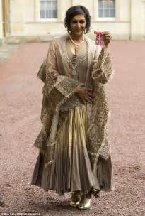 Dress Syal meera syal receives a cbe from prince charles at buckingham palace daily mail