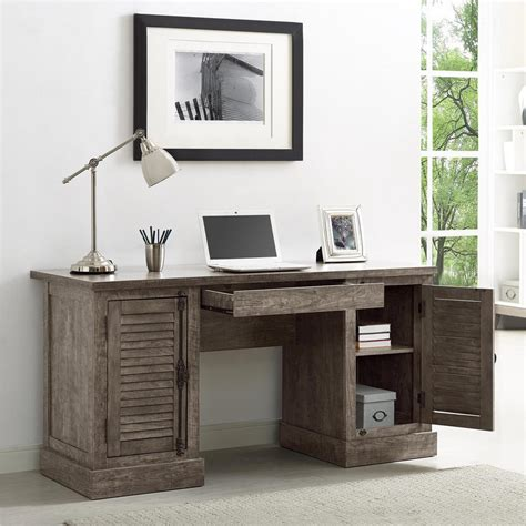 Touch Faucets Kitchen by Ameriwood Sienna Park Double Rustic Gray Pedestal Desk