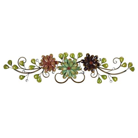 Colorfull Flower Sprei flower and leaf spray colourful floral metal wall display