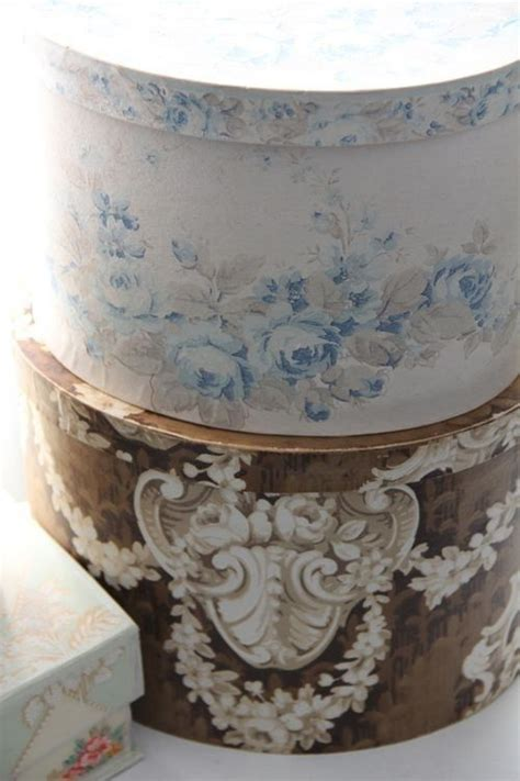 shabby chic hat boxes shabby chic these hat boxes pretty boxes