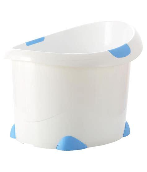 sit up bathtub babyoye blue plastic sit up bath tub buy babyoye blue plastic sit up bath tub at best