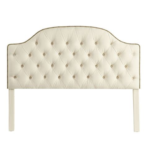 tuffed headboards camden tufted headboard with brass nailheads ballard designs