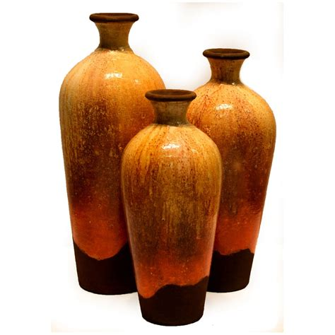 Vase Set Of 3 by Iris Vases Set Of 3