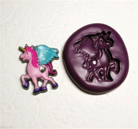 Set Fairytale The Silicone Mold Icing Clay Fondant tale unicorn silicone mold mould 30mm fondant chocolate clay simply molds