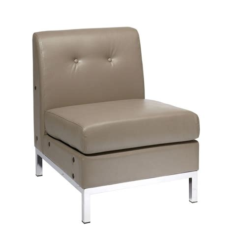 Faux Leather Accent Chair Ave Six Wall Smoke Faux Leather Accent Chair Wst51n U22 The Home Depot