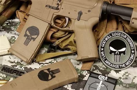 punisher gun stencil gunstencilscom