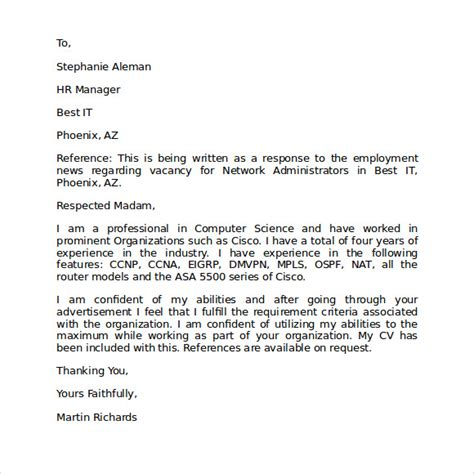 Letter Of Intent To Employ Template Letter Of Intent For Employment 9 Free