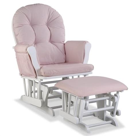 pink glider and ottoman custom glider and ottoman in white pink blush twirl