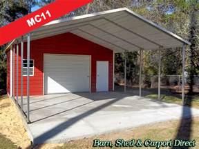 large carport utility shed combo 22 x 31 x 9 mc11