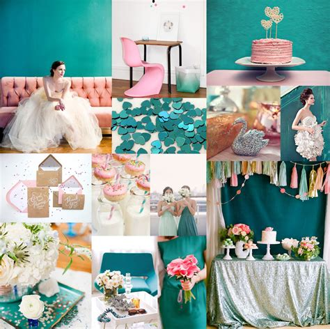 teal wedding colors teal pink silver wedding colors