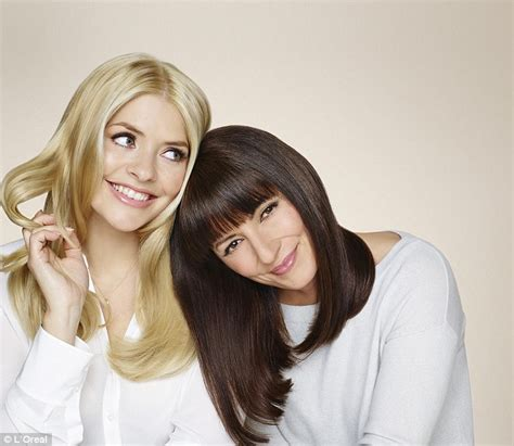 models for garnierfor2015 holly willoughby and davina mccall join forces for garnier