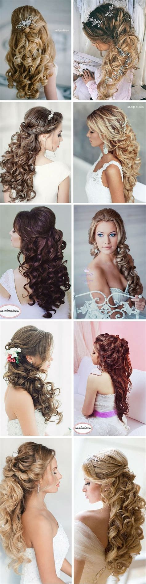 Wedding Hairstyles Curly Hair Half Up by 100 Wedding Hairstyles 2018 Curls Half