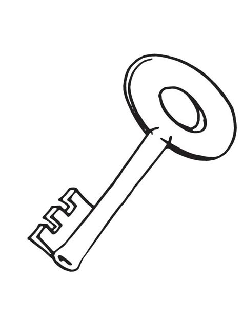 key color 95 coloring page key free printable key coloring