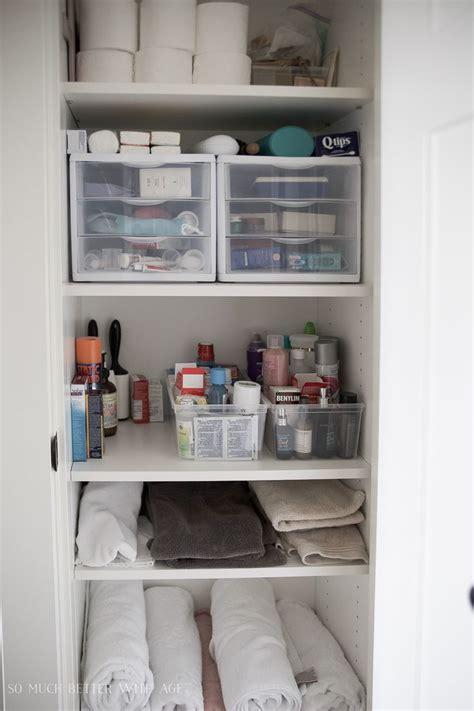 Bathroom Closet Organization » Home Design 2017