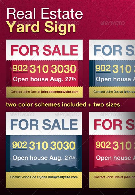 real estate yard sign graphicriver