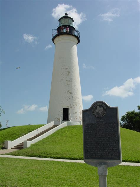 texas lighthouses map port lighthouse texas tripomatic