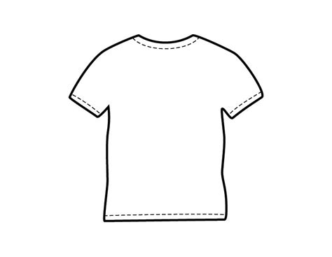 Coloring Page T Shirt by Printable T Shirt Templates Clipart Best Clipart Best