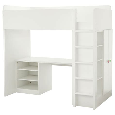 bunk beds with desk ikea stuva f 214 lja loft bed combo w 2 shelves 2 doors white