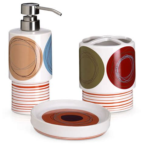 dot swirl 3 bath accessory set walmart
