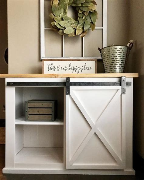 barn door cabinet diy diyhd 39 quot wooden cabinet sliding barn door hardware mini
