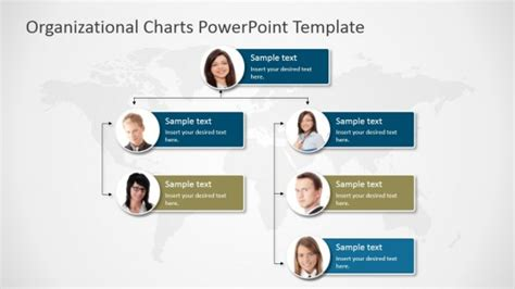 organizational structure ppt template free download animated org