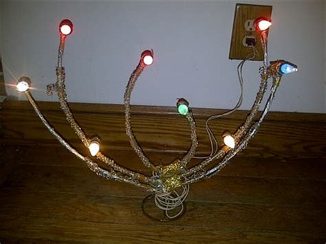 vintage c6 christmas light candolier mirostar candolier
