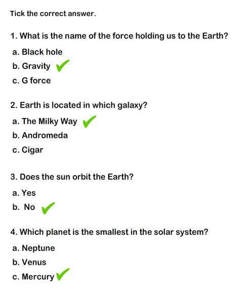 solar system worksheet 4 science worksheets grade 1