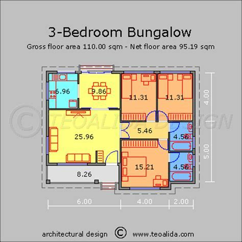 House floor plans 50 400 sqm designed by Teoalida