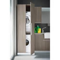 meuble pour machine a laver et seche linge espace