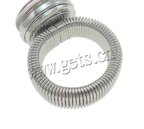 snap button ring zinc alloy platinum color plated adjustable gets