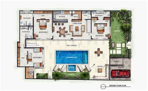 layout design of villa bali villa with layout floor plan floor plans