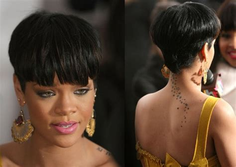 rihanna images of front and back short hair styles ultra trendy short rihanna bowl cut avant garde