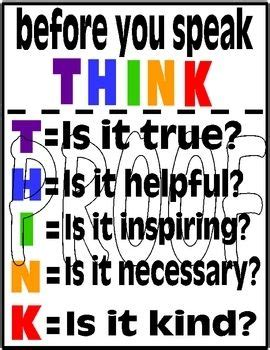prevent office gossip think poster prevent gossip in your classroom or