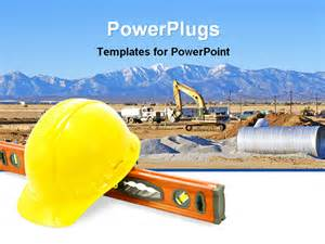Construction Powerpoint Template by Powerpoint Template Construction Equipment For Work